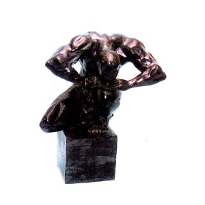 SKULPTUR TORSO MAN 49 CM