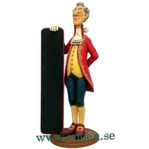 Butler 1700-talet med menytavla 166 cm