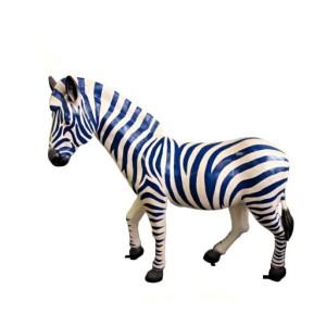 """Udda Zebra """" Stort huvud med blå ränder""""  135 cm"""