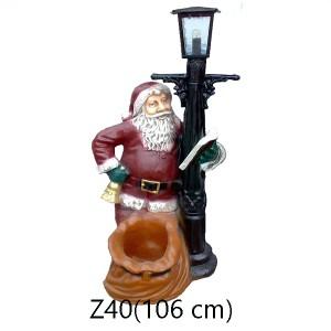 TOMTE VID EN LYKTA/LAMPA 106 CM