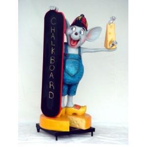 Ostboard med menytavla på hjul 168 cm