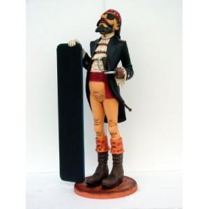 Pirat med menytavla 172 cm