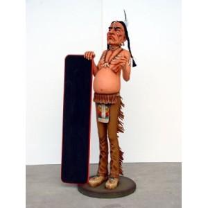 Indian med menytavla 173 cm