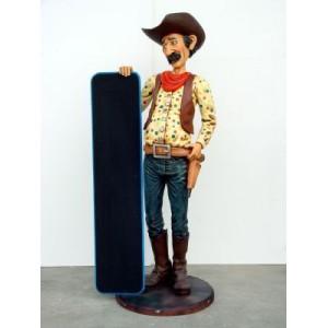 Cowboy med menytavla 174 cm