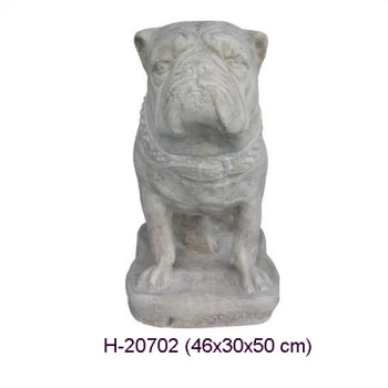 BULLDOG I ROMERSK STIL (Skulptur) 50 CM