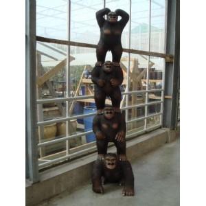 Tootem monkeys av specialtillverkad  trä