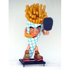 """Pommes frites """"Perfekt för Grillen""""  med menytavla 181 cm"""