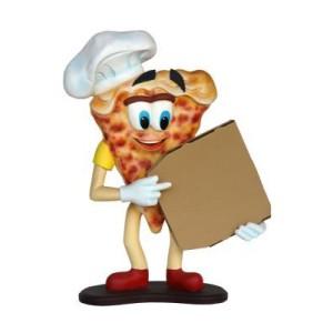 PIZZA GOSSE MED PIZZA KARTONG/BOX FÖR DIN PIZZERIA ELLER RESTAURANG 101 CM