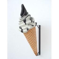 Glass Cream Choco 133 cm med väggfäste