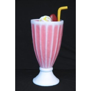 Milkshake Strawberry för glassbarer  104 cm