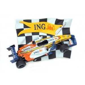 Car Racing Rutig flagga w RNT bil 130 cm i glasfiber