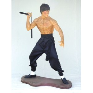 Kung Fu Fighter 173 cm i glasfiber