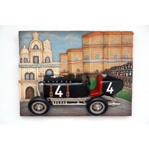 Veteranbil väggdekor Monaco 81 cm i glasfiber