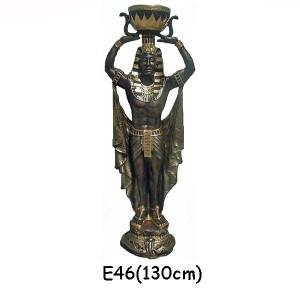 EGYPTISK FIGURER FARAO MED SKÅL 130 CM