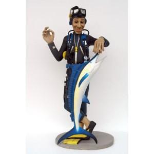 Dykare Diver w Blue Marlin 180 cm i glasfiber