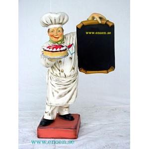 Bagare med menytavla och tårta 85 cm