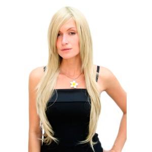 Peruk blond mycket långt hår 75 cm