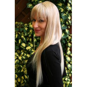 Peruk blond lång 60 cm
