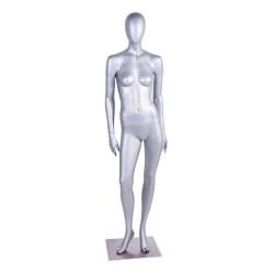 Silver dam skyltdocka tillverkad av högkvalitativ polyester glasfiber