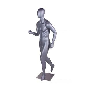 Jogging sport och ortoped skyltdocka herr