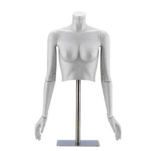 Flexibel dam torso med ledade armar, går att använda med eller utan huvud