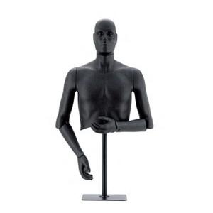 Flexibel herr byst med armar och stativ