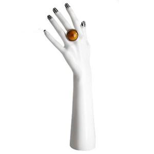 3 STYCKEN PVC DISPLAY HAND I VIT FÄRG