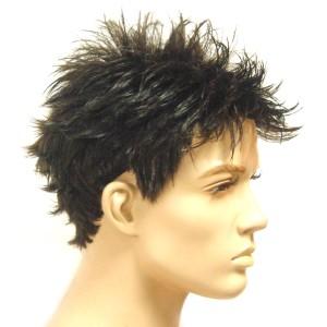 Peruk svart kort hår herr M7