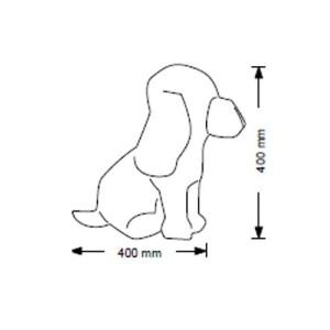 Skylthund flexibel böjbar hund 40 cm
