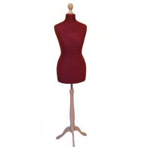 Deco torso i garn handmade inkl. stativ i trä