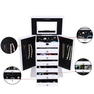 Elegant smyckes förvaringsbox med 7 lådor