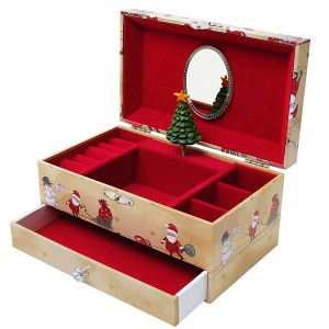 Speldosa med fack för smycken m.m. har vackra jul motiv, perfekt julklapp eller present