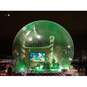 Uppblåsbart stort transparent kupol tält perfekt för event m.m.