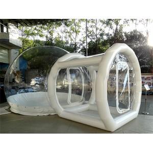Uppblåsbart stort transparent kupol tält begär offert